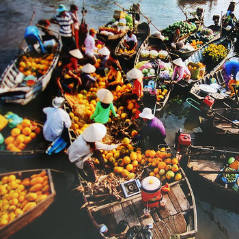 Du lịch chợ nổi Cái Bè - Tiền Giang bằng xe máy