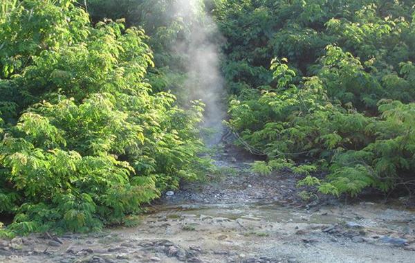 Suối nước nóng Triêm Đức- điểm đến thu hút rất nhiều người tìm về trong những năm qua.